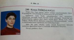 Kenan İmirzalıoğlu Lise Yıllığı